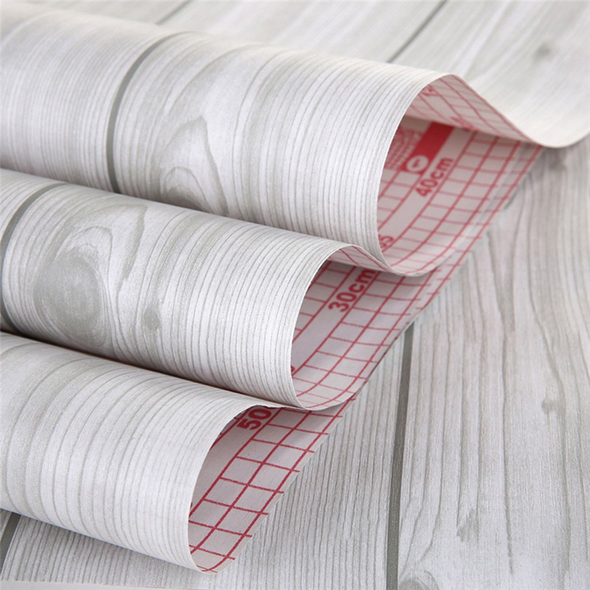 Decorative wood grain contact paper self adhesive shelf for Adhesive covering for kitchen cabinets