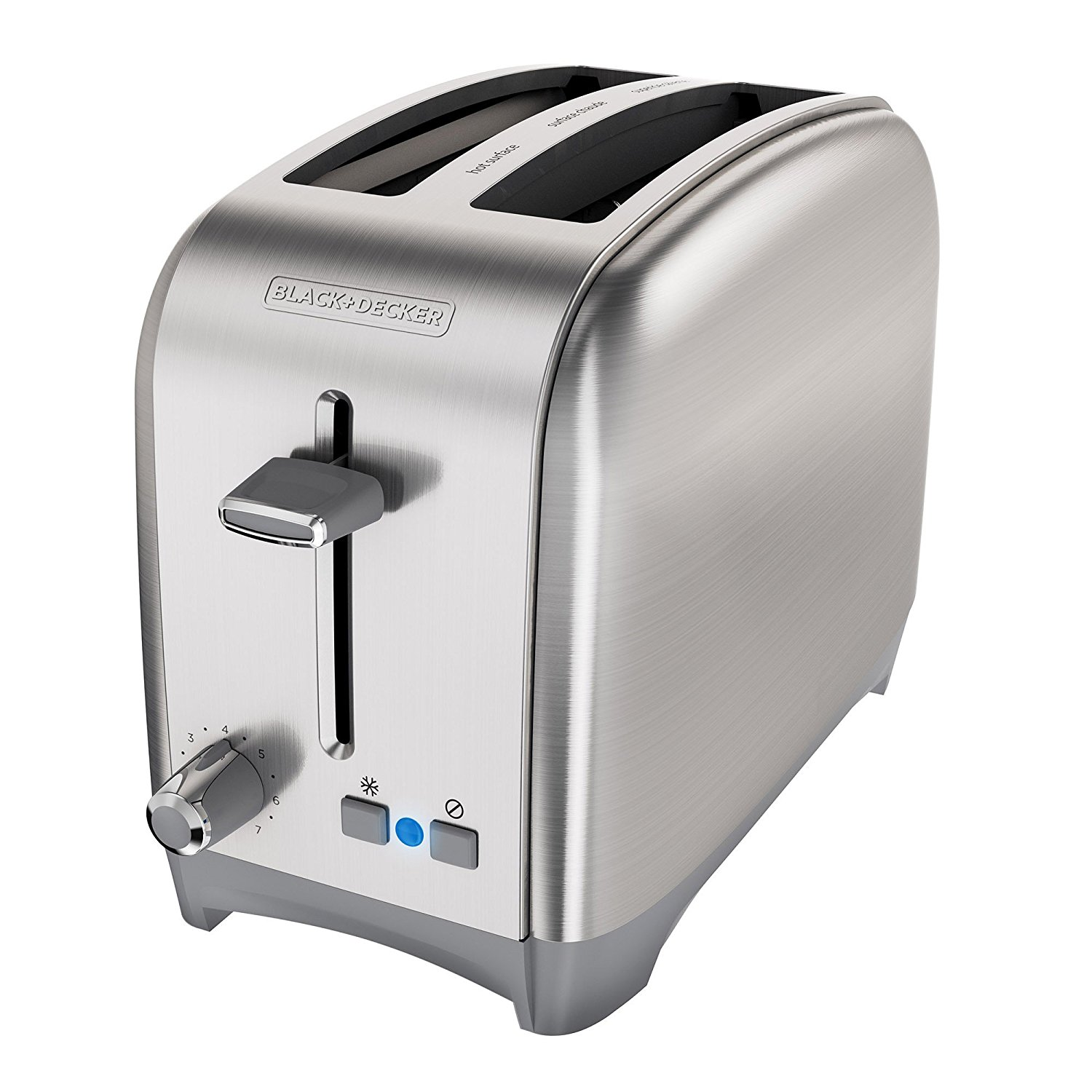 Black Decker 2 Slice Extra Wide Slot Toaster Classic
