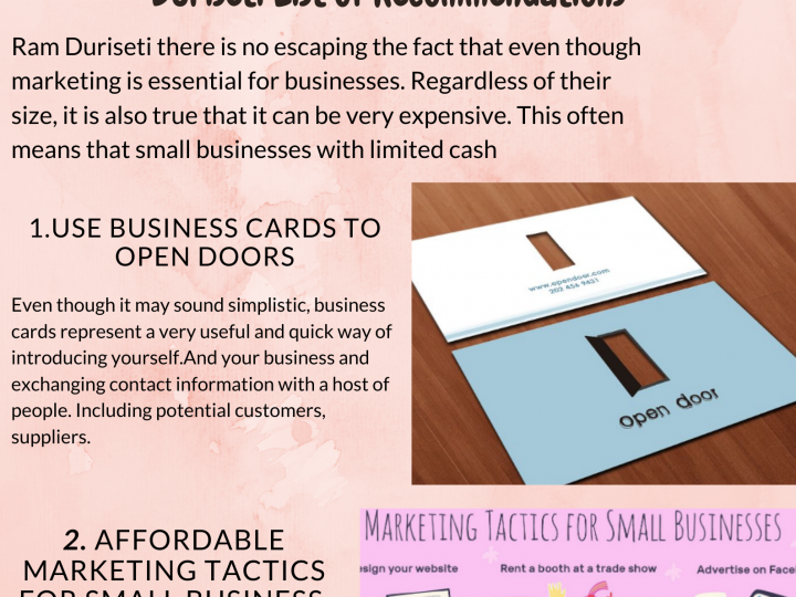 2020 Infographic by Ram Duriseti Highly Effective Yet Affordable Marketing Tactics for Small Business-The Ram Duriseti List of Recommendations