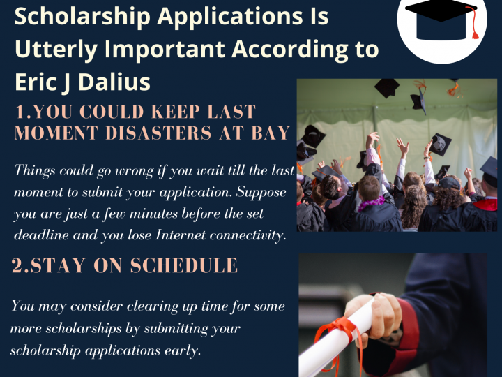 Eric Dalius Emphasizes the Importance of Scholarships & Early Submission of Scholarship Applications